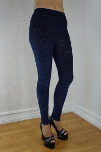 Blue Lace leggings