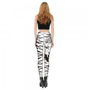 Tiger Black White Animal Leggings