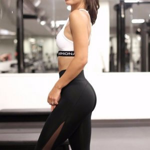 Fitness Leggings Women High Waist Patchwork Mesh