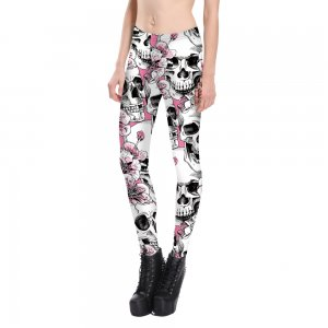 Skull & Flower Leggings