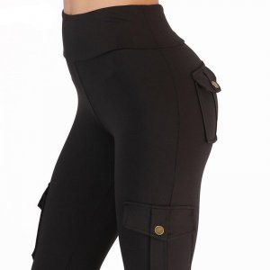 Leggings with high waist and pockets