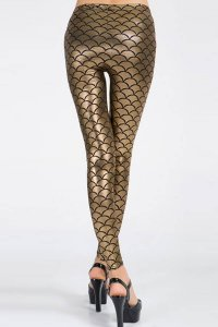 Mermaid Shiny Gold Leggings