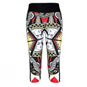 Poker High Waist With Side Pocket Phone Capri Pants