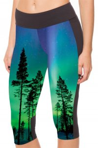 The Trees High Waist With Side Pocket Phone Capri Pants
