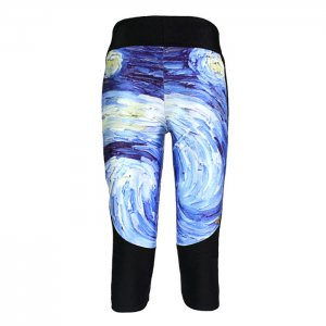Universe Whirlpools High Waist With Side Pocket Phone Capri Pants