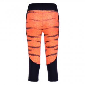 Tiger High Waist With Side Pocket Phone Capri Pants