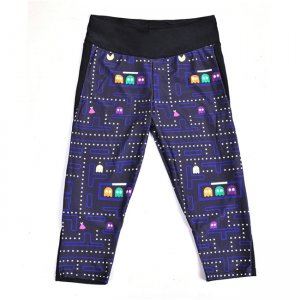 Pacman High Waist With Side Pocket Phone Capri Pants