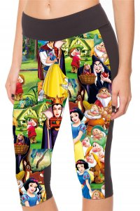 Snow White High Waist With Side Pocket Phone Capri Pants