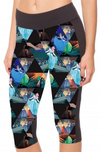 Cinderella High Waist With Side Pocket Phone Capri Pants