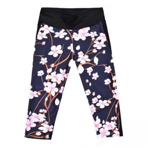 The Peach Blossom High Waist With Side Pocket Phone Capri Pants