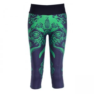 The Green Dragon High Waist With Side Pocket Phone Capri Pants