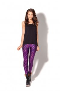 Mermaid Shiny Purple Leggings
