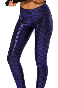 Mermaid Shiny Royalblue Leggings
