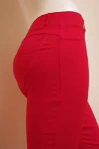 Red Stretch Fit Shaping Butt Lifting Leggings