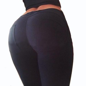 Black Stretch Fit Shaping Butt Lifting Leggings