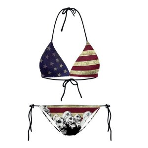 Bikini 2-pieces American Flag and Skull