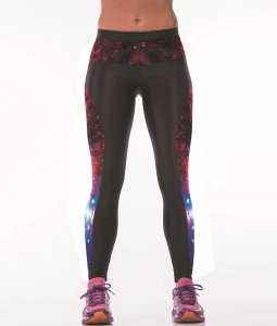 High Waist Pink Galaxy Gym Sport Yoga Fitness Leggings Pants