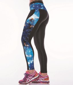 High Waist Blue Galaxy Gym Sport Yoga Fitness Leggings Pants