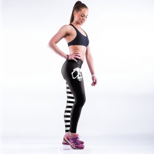 High Waist Skull Patchwork Gym Sport Yoga Fitness Leggings Pants