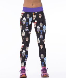 High Waist Cartoon Face Gym Sport Yoga Fitness Leggings Pants