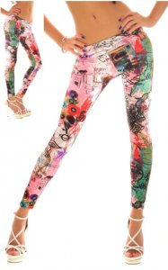 Pink Tattoo Leggings
