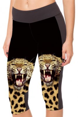 The Cheetah With Side Pocket Phone Capri Pants