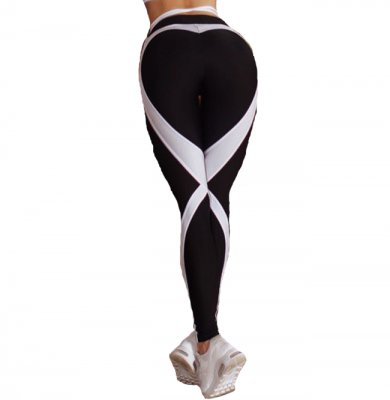 White Heart Sport Printed Fitness Yoga Leggings