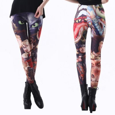Cartoon Sexy Black Leggings