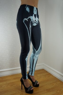 Skeleton Green Black Leggings