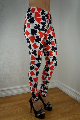 Card Black Red Leggings