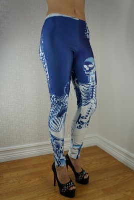 The White Skeleton Leggings