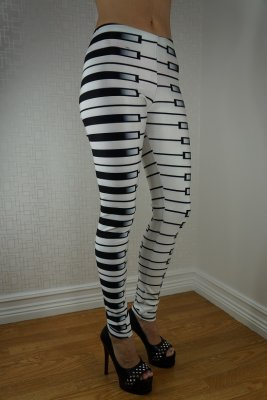 White Piano Leggings