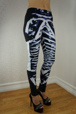 Skeleton Black Leggings
