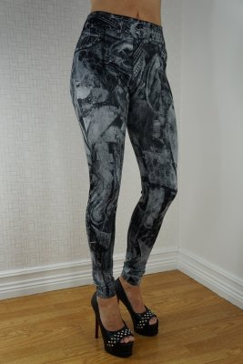 Fashion Jeans Print Leggings