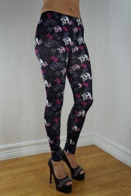 Colored Skulls Leggings