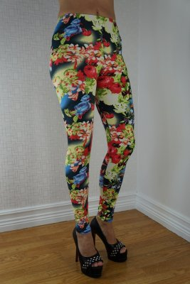 Colorful Rose Leggings