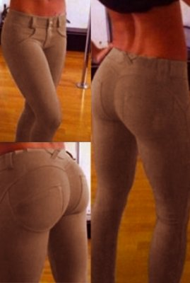 Khaki Stretch Fit Shaping Butt Lifting Leggings