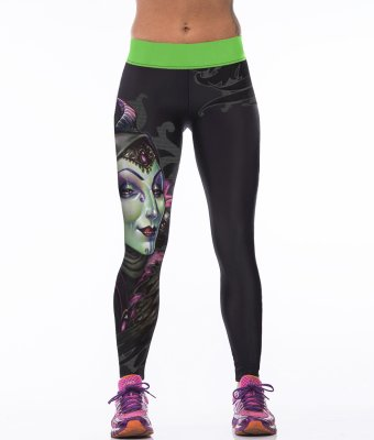 High Waist Princess Gym Sport Yoga Fitness Leggings Pants